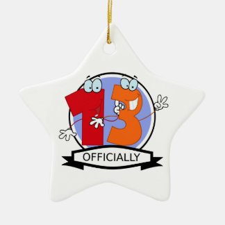 Officially 13 Birthday Banner Christmas Ornament