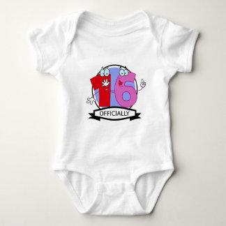 Officially 16 Birthday Banner Baby Bodysuit