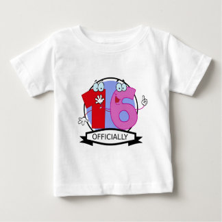 Officially 16 Birthday Banner Baby T-Shirt