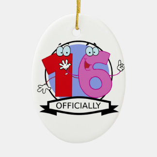 Officially 16 Birthday Banner Christmas Ornament