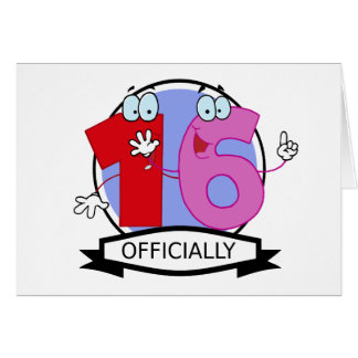 Officially 16 Birthday Banner Greeting Card