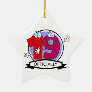 Officially 19 Birthday Banner Ceramic Star Decoration