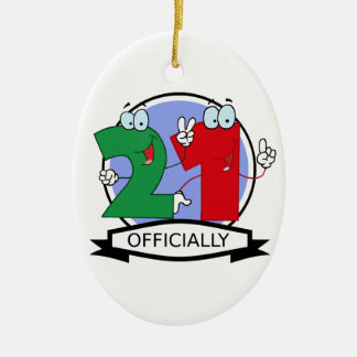 Officially 21 Birthday Banner Christmas Ornament