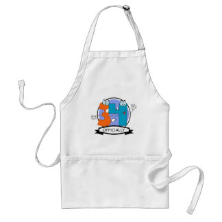 Officially 34 Birthday Banner Standard Apron