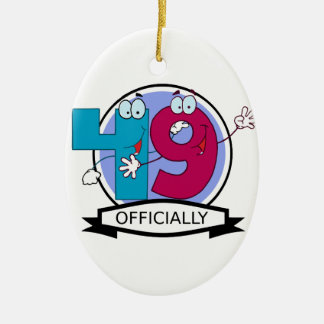 Officially 49 Birthday Banner Ceramic Oval Decoration
