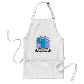 Officially 4 Birthday Banner Aprons