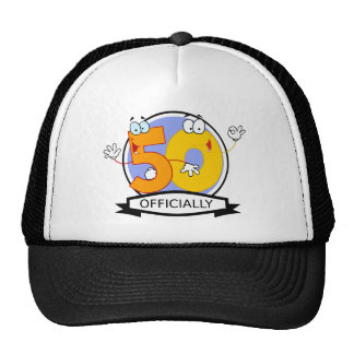 Officially 50 Birthday Banner Cap
