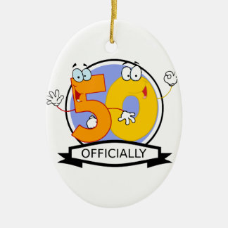 Officially 50 Birthday Banner Christmas Ornament