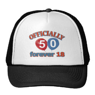Officially 50 forever 18 hat