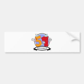 Officially 51 Birthday Banner Bumper Sticker