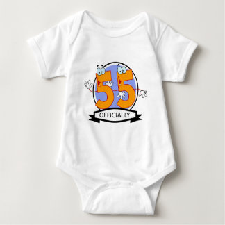 Officially 55 Birthday Banner T Shirt