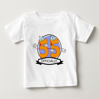 Officially 55 Birthday Banner T Shirts