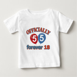 Officially 55 forever 18 t-shirt