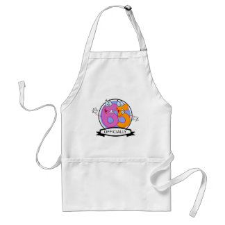 Officially 65 Birthday Banner Aprons