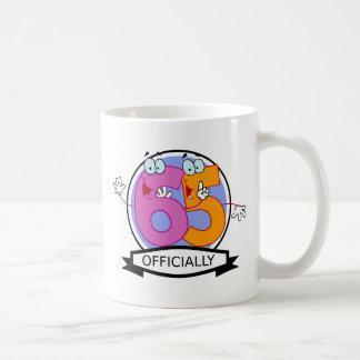 Officially 65 Birthday Banner Coffee Mug
