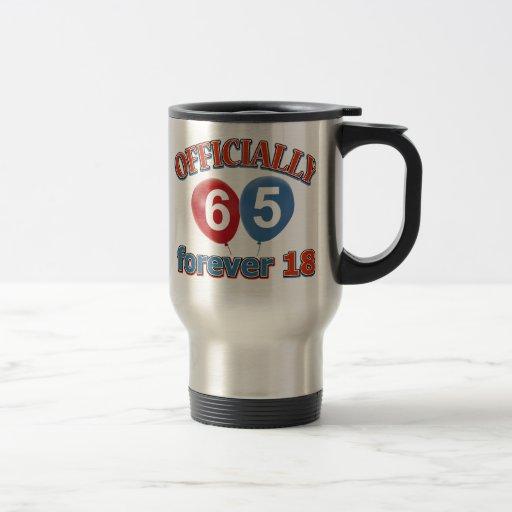 Officially 65 forever 18 mugs