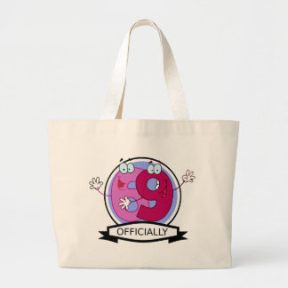 Officially 69 Birthday Banner Tote Bags