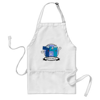 Officially 74 Birthday Banner Aprons