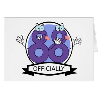Officially 88 Birthday Banner Greeting Card