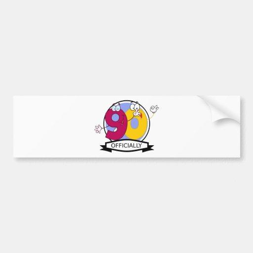 Officially 90 Birthday Banner Bumper Sticker
