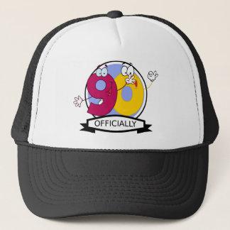 Officially 90 Birthday Banner Trucker Hat
