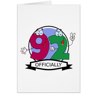 Officially 92 Birthday Banner Greeting Card