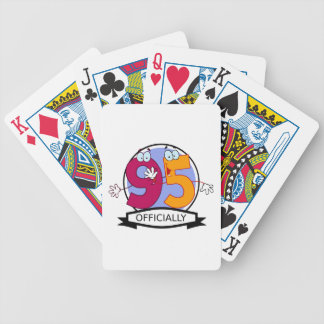 Officially 95 Birthday Banner Bicycle Card Decks