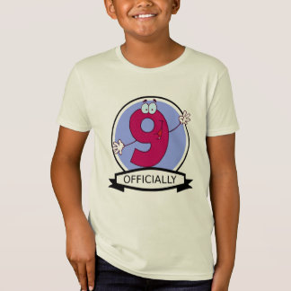 Officially 9 Birthday Banner T-Shirt