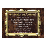 Officially an Antique 50th Birthday Personalised Invitations