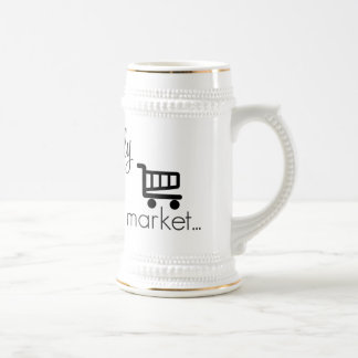 Officially off the Market- Funny Wedding Design Beer Stein