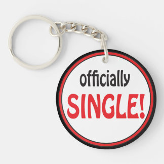 Officially Single | Divorced Double-Sided Round Acrylic Key Ring