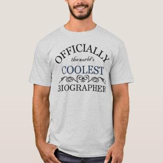 Officially the world's coolest Biographer T-Shirt