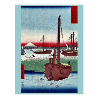 Offing of Tsukuda by Ando,Hiroshige Postcard