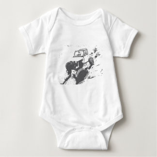 Offroading is awesome baby bodysuit