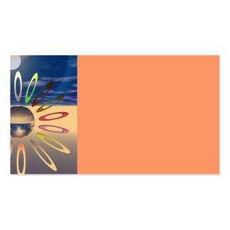 Offset Crystal Sunburst Business Card Template