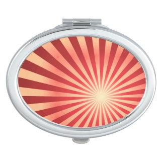 Offset Sunburst Oval Compact Mirror