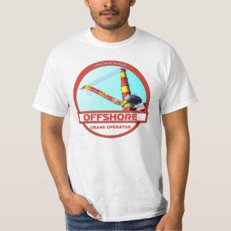 Offshore Crane Operator - White T-Shirt