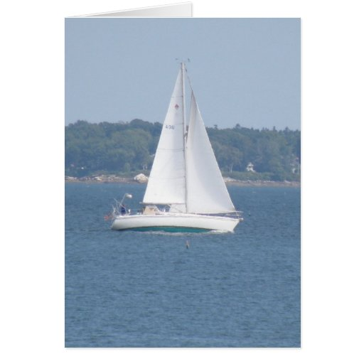 Offshore Cruise Sailing Greeting Card