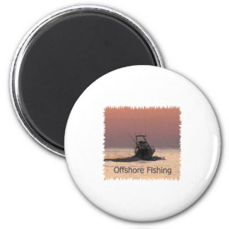 Offshore Fishing Boat Logo 6 Cm Round Magnet