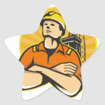 Offshore Oil and Gas Worker Rig Retro Star Sticker