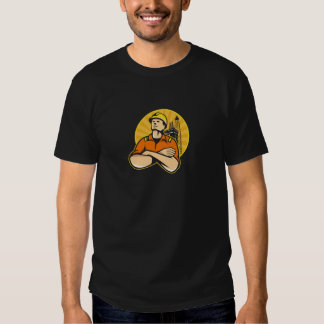 Offshore Oil and Gas Worker Rig Retro T Shirt