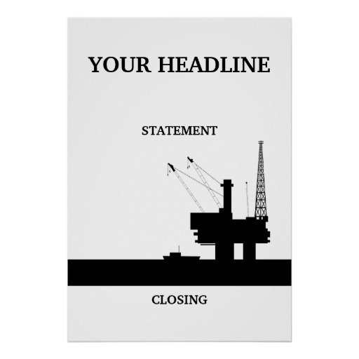 Offshore Oil Poster Template