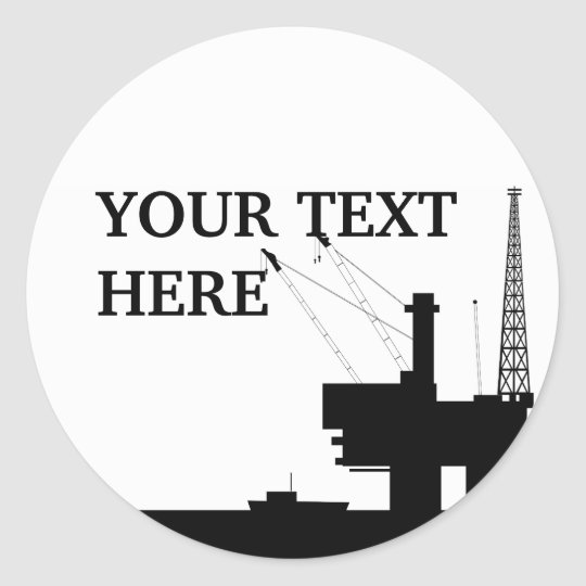 Offshore Oil Sticker Template