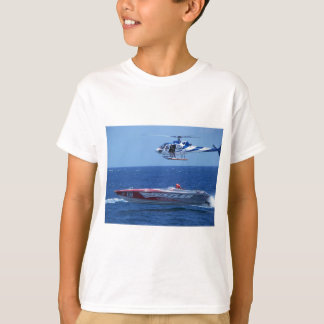 Offshore Powerboat And Helicopter T-Shirt