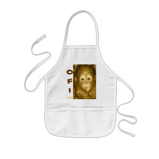 OFI Orangutan Rescue Baby Bib for girl or boy Kids Apron