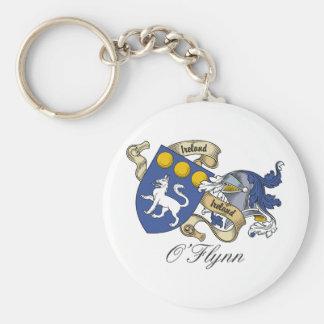 O'Flynn Family Crest Basic Round Button Key Ring