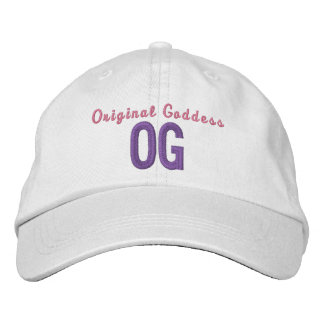 OG Original Goddess Personalized Adjustable Hat Embroidered Hats