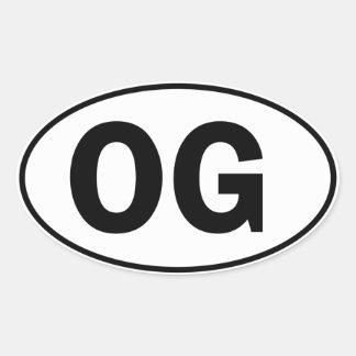 OG Oval Identity Sign Stickers
