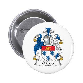 O'Gara Family Crest 6 Cm Round Badge