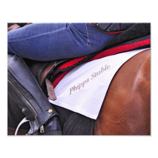 Ogden Phipps Stables Workouts Photographic Print